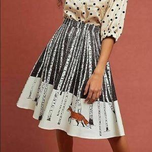 NWT Anthro Corey Lynn Calter Winter Fox Skirt